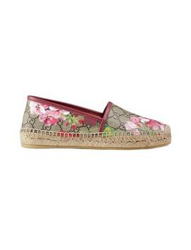 Gucci Gg Blooms Supreme Espadrillehome Women Gucci Shoes Espadrilles by Gucci