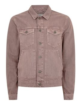 Washed Pink Denim Jacket by Topman