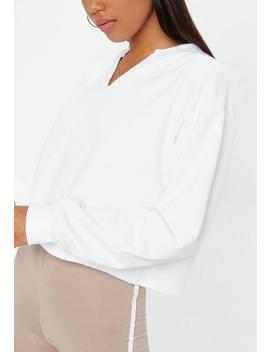 Sweat Court Blanc Col V by Missguided
