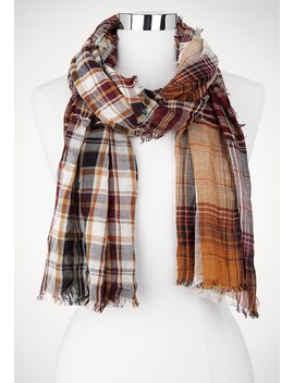 Plaid Oblong Scarf by Maurices