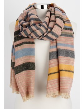 Multi Striped Oblong Scarf by Maurices