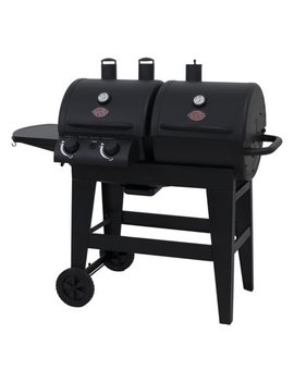 Char Griller Dual 2 Burner Charcoal & Gas Grill, Black, E5030 by Char Griller