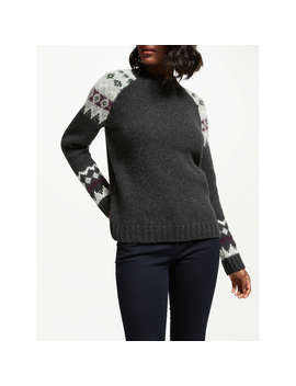 Barbour Ruby Fair Isle Jumper, Charcoal by Barbour