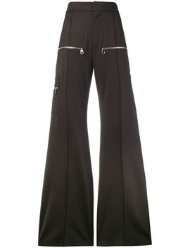 Chloésuper Flared Trousershome Women Chloéclothing Flared Trousers Brown Rosette 75 Patent Leather Cowboy Bootssuper Flared Trousers by Chloé