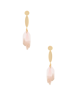 Feather Drop Earrings by Ettika
