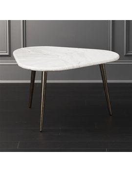 Intertwine Triangle Marble Coffee Table by Crate&Barrel