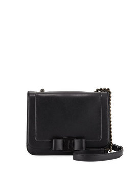 Small Vara Bow Shoulder Bag With Tonal Hardware by Salvatore Ferragamo