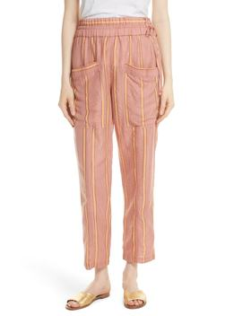 Daniela Metallic Stripe Ankle Pants by Apiece Apart