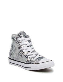 Sequined High Top Chuck Taylor All Star Sneaker (Women) by Converse