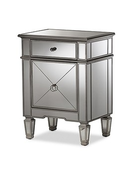 Baxton Studio Claudia Mirrored Nightstand In Silver by Bed Bath And Beyond