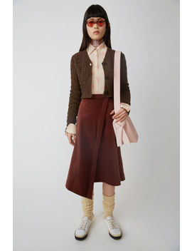 A Line Wrap Skirt Rosewood Red by Acne Studios