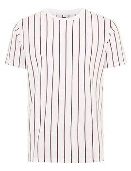 White Striped Crew Neck T Shirt by Topman