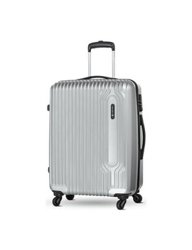 Carlton Tube Medium 4 Wheel Hard Suitcase   Silver by Argos