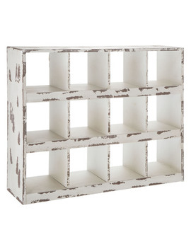 Distressed White Wall Shelf by Hobby Lobby