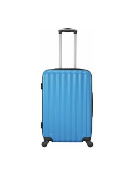 Small 4 Wheel Hard Suitcase   Candy Blue by Argos