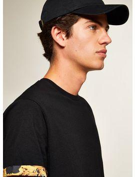 Black Baroque Roll Sleeve T Shirt by Topman