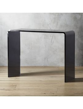 "Peekaboo 38"" Smoke Acrylic Console Table by Crate&Barrel"