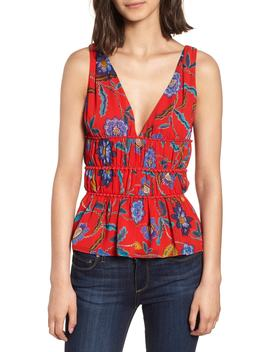 Lucy Floral Top by Rebecca Minkoff