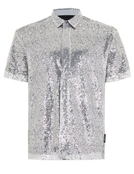 Jaded Silver Sequin Short Sleeve Shirt* by Topman