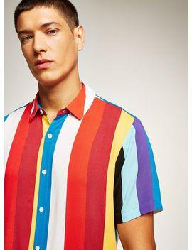 Multicoloured Stripe Short Sleeve Shirt by Topman