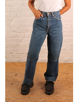 Blue Denim Flared Jeans  W31 by The Ragged Priest