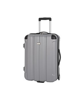 Go Explore Medium 2 Wheel Hard Suitcase   Silver by Argos