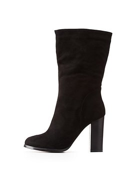Mid Calf Ankle Boots by Charlotte Russe