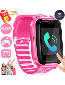 Kids Phone Smart Watch [Speedtalk Sim Included] Ereon Kids Smartwatch For 3 14 Year Girls Boys Children Toys Touch Screen Camera Game Digital Wrist Sport Watch Bracelet Holiday School Gift, Pink by Ereon