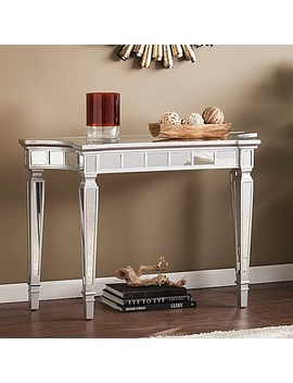 Southern Enterprises Glenview Glam Mirrored Console Table In Matte Silver by Bed Bath And Beyond