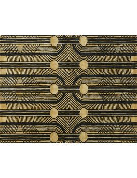 Coins Black And Gold Rug 8'x10' by Crate&Barrel