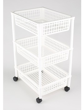 3 Tier Storage Trolley (63cm X 40cm X 31cm) by Matalan