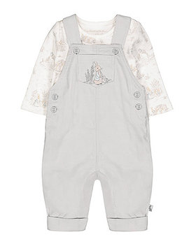 Peter Rabbit Dungarees And Bodysuit Set by Mothercare