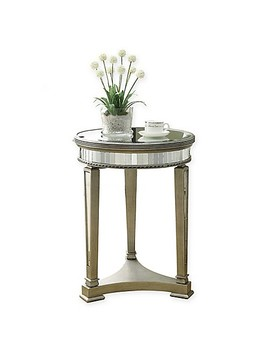 20 Inch Round Accent Table In Silver by Bed Bath And Beyond