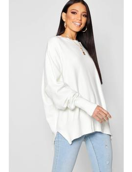 Oversized Balloon Sleeve Knitted Jumper by Boohoo
