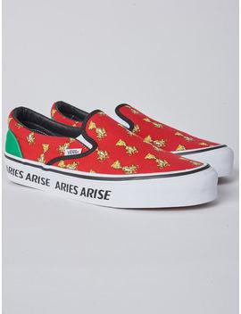 Vans X Aries Arise Red Slip On   Red by Garmentory