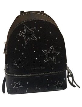 Star Studded Rhea Black Leather Backpack by Michael Michael Kors