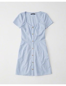 Short Sleeve Button Up Dress by Abercrombie & Fitch