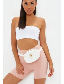 White Oval Lion Fanny Pack by Missguided