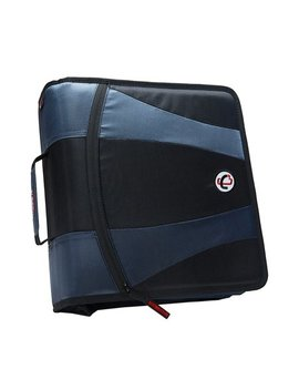 "Case It Dual 2.0 2"" Zipper Binder, 2 Sets Of 2"" D Rings, 4"" Capacity by Case It"