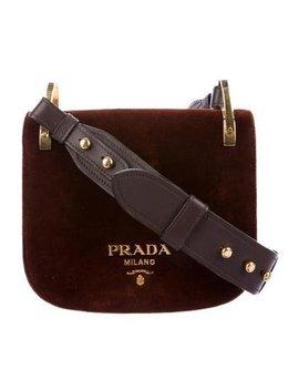 Prada Pionnière Velvet Saddle Bag by Prada