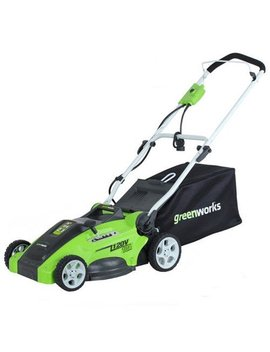 "Greenworks 120 V 16"" Electric Lawn Mower, Green 25142 by Green Works"