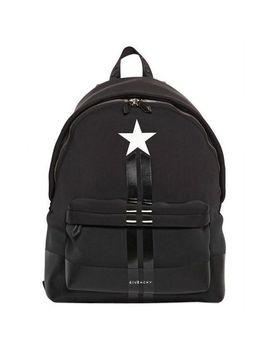 Men's Black Star Neoprene Backpack by Givenchy