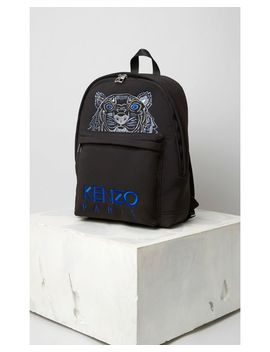 Men's Black Large Neoprene Tiger Backpack by Kenzo