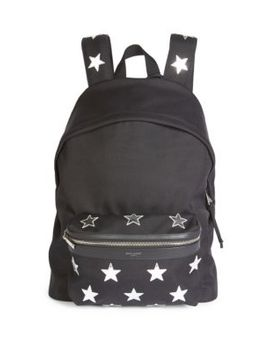 Star Print Backpack by Saint Laurent