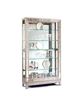 Pulaski Side Entry Curio In Platinum by Bed Bath And Beyond