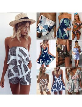 2018 Brand Tops Boho Bodysuit Romper Women Overall Summer Fashion  Bohemian Style Sexy Body Mono Mujer Jumpsuit Playsuit Clothes by Liva Girl