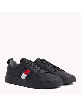 Flag Detail Leather Low Tops by Tommy Hilfiger