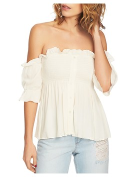 Smocked Off The Shoulder Top by 1.State