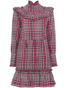 Charron Checked Dress by Ganni