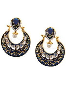 Royal Bling Bollywood Jewelry Meenakari Earrings For Women by Royal Bling